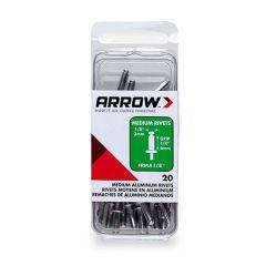 Arrow 1/8 Med Alum Rivet (20 per box) - RMA18