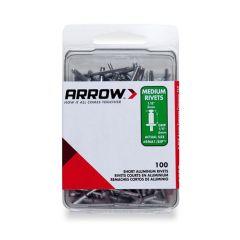 Arrow 1/8 Medium Aluminium Rivets (100 per box) - RMA18IP