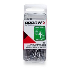 Arrow 1/8 Short Aluminium Rivets (25 per box) - RSA18