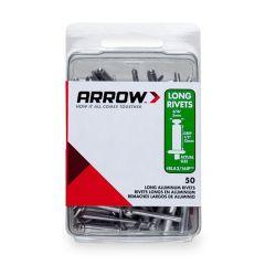 Arrow 3/16 Long Aluminium Rivets (50 per box) - RLA316IP