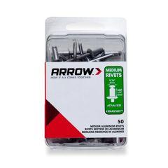 Arrow 3/16 Medium Aluminium Rivets (50 per box) - RMA316IP
