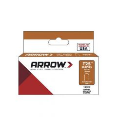 Arrow T25 Round Crown Staples 11mm 7/16""
