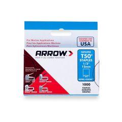 "Arrow T50 Monel Staples 12mm 1/2"" (1250 Box) - 508M1"