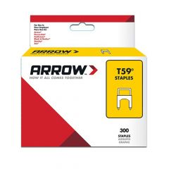 Arrow T59 Clear Insulated Staples 6 x 6mm (300 Box)