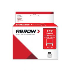 Arrow T72 Clear Insulated Staples 15 x 9mm (300 Box)