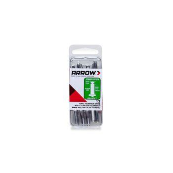 Arrow 3/16 Lng Alum Rivet (12 per box) - RLA316