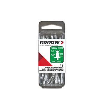Arrow 3/16 Medium Aluminium Rivets (15 per box) - RMA316