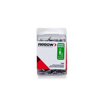 Arrow RSA1/8 Short Aluminium Rivets (100 per box) - RSA18IP