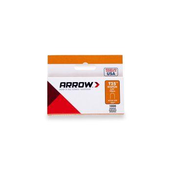 "Arrow T25 Round Crown Staples 10mm 3/8"" (1000 Box) - 256"