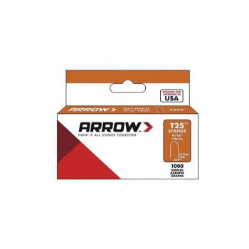 "Arrow T25 Round Crown Staples 14mm 9/16"" (1000 Box) - 259"
