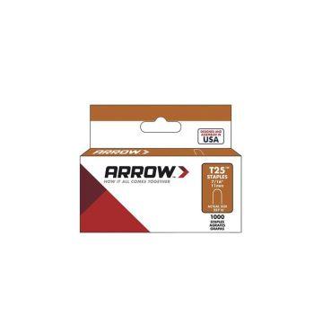 "Arrow T25 Round Crown Staples White 11mm 7/16"" (1000 Box) - 257W"