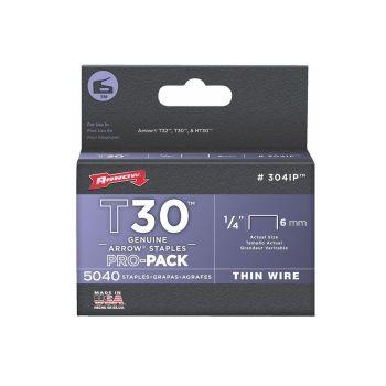 "Arrow T30 Staples Bulk Pack 6mm 1/4"" (Approx 5000 Box) - 304IP"