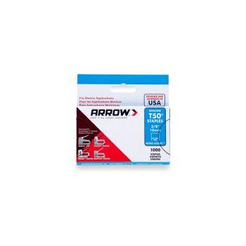 "Arrow T50 Monel Staples 10mm 3/8"" (1000 Box) - 506M1"