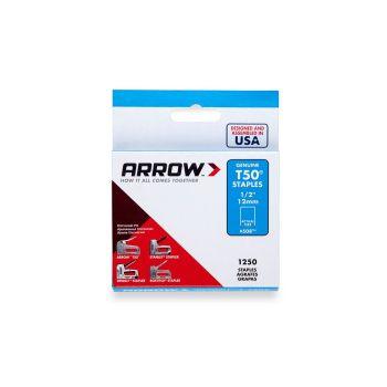 "Arrow T50 Staples 12mm 1/2"" (1250 Box) - 50824"