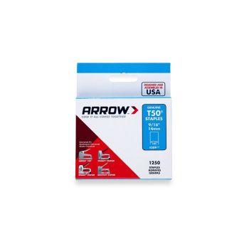 "Arrow T50 Staples 14mm 9/16"" (1250 Box) - 50924"