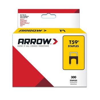 Arrow T59 Black Insulated Staples 8 x 8mm (300 Box) - 591189BL