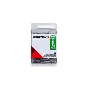 Arrow 3/16 Short Aluminium Rivets (50 per box) - RSA316IP