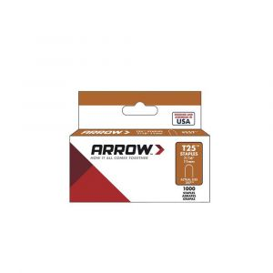 "Arrow T25 Round Crown Staples 11mm 7/16"" (1000 Box) - 257"