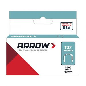 "Arrow T37 Round Crown Staples 14mm 9/16"" (1000 Box) - 379"