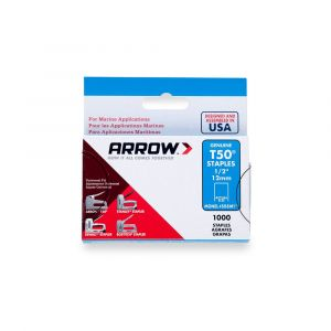 "Arrow T50 Monel Staples 12mm 1/2"" (1250 Box) - 508M1"