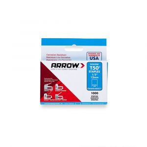 "Arrow T50 Stainless Staples 12mm 1/2"" (1000 Box) - 508SS1"