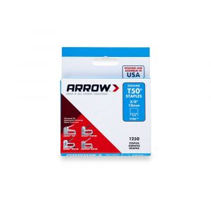 "Arrow T50 Staples 10mm 3/8"" (1250 Box) - 50624"