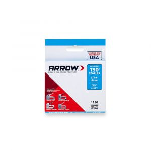 "Arrow T50 Staples 8mm 5/16"" (1250 Box) - 50524"