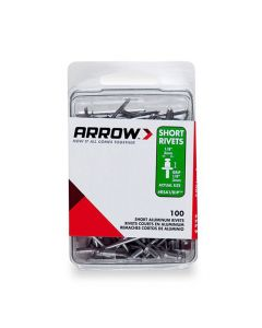 Arrow 1/8 Long Aluminium Rivets (100 per box) - RLA18IP