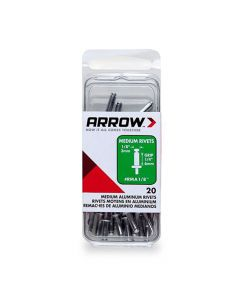 Arrow 1/8 Med Alum Rivet (20 per box) - RMA18