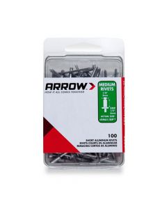 Arrow 1/8 Medium Aluminium Rivets (100 per box) - RMA18IP