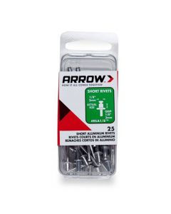 Arrow 1/8 Short Aluminium Rivets (25 per box) - RSA18