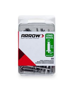 Arrow 3/16 Long Aluminium Rivets (50 per box) - RLA316IP