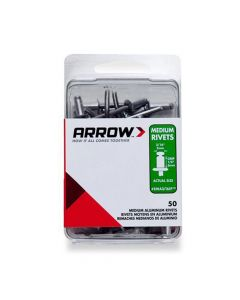 Arrow 3/16 Medium Aluminium Rivets (50 per box) - RMA316IP