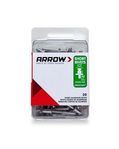 Arrow 3/16 Short Aluminium Rivets (50 per box) - RSA316IP