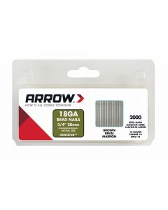 Arrow Brad Nails 20mm Brown (2000 Box) - BN1812B