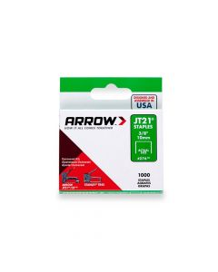 "Arrow JT21 Staples 10mm 3/8"" (1000 Box) - 276"