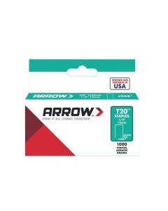 "Arrow T20 Staples 12mm 1/2"" (1000 Box) - 208"