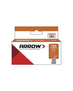 "Arrow T25 Round Crown Monel Staples 14mm 9/16"" (1000 Box)"