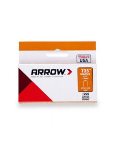 Arrow T25 Round Crown Staples 10mm 3/8""