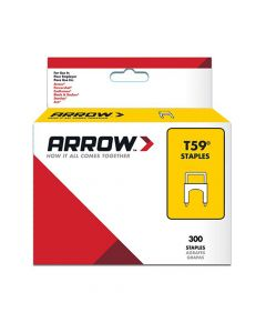 Arrow T59 Clear Insulated Staples 6 x 8mm (300 Box) - 591188