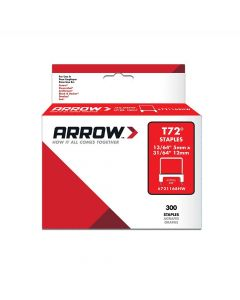 Arrow T72 Clear Insulated H/Wood Staples 12 x 5mm